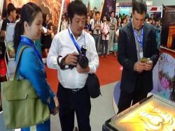Họa sĩ tranh cát Tuần lễ quốc tế du lịch tại tphcm 2014